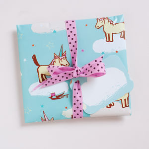 Unicorn Horse Party Wrapping Paper Sheets - ribbon & wrap