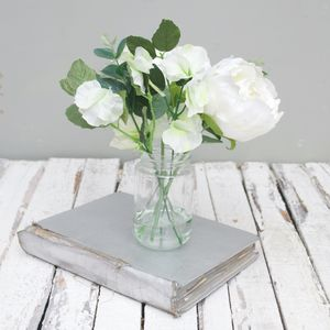Luxury Peony Bouquet In Vase - artificial flowers