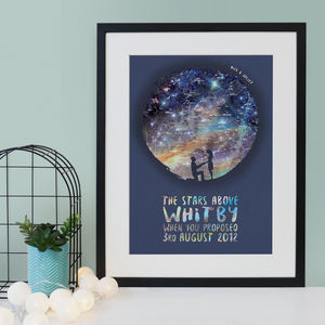 Proposal Personalised Map Of The Stars Engagement Print - family & home