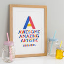 Childrens Personalised Gift Print