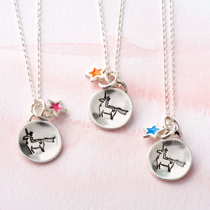 Unicorn Sterling Silver Charm Necklace
