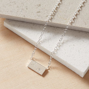 Teeny Tiny Wilderlove Bar Necklace - necklaces & pendants