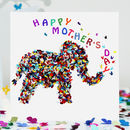 Elephant Mother's Day Card, Butterfly Mum Card