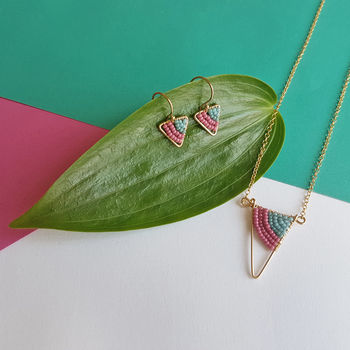 Summer Geometric Jewellery Set In Gold