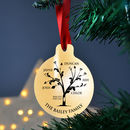 Personalised Metal Family Tree Christmas Bauble