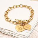 Personalised Rose Or Yellow Gold Charm Chain Bracelet