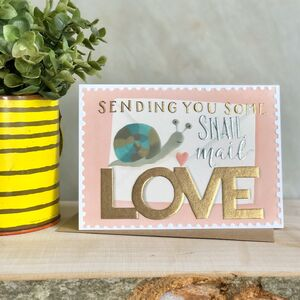 Snail Mail Love Note Card