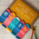 Kids Personalised Create Your Own Name Socks Box