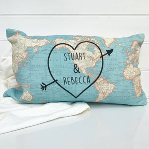 Personalised Cushion With World Map Print - cushions