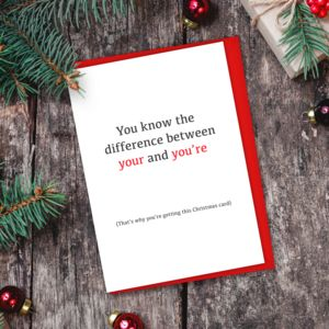 Your And You're Grammar Christmas Card