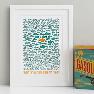 Hand Illustrated Against The Tide Print