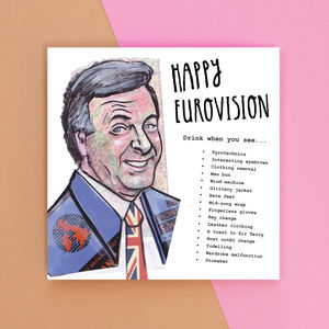 Happy Eurovision Drinking Game Card