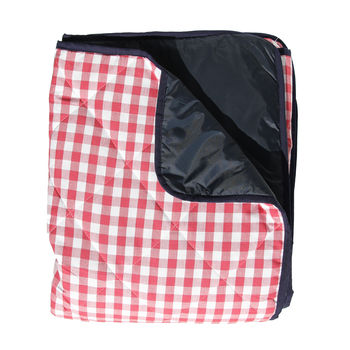 Red Gingham Padded Picnic Rug