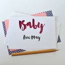 Personalised New Baby Glitter Cut Out Card