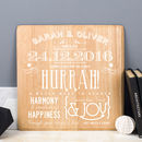 Personalised Engagement Wooden Print