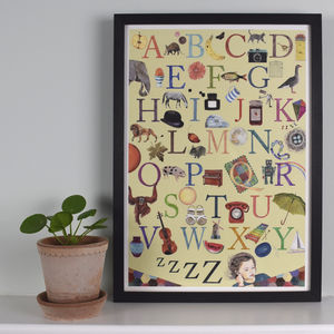 Illustrated Alphabet Art Print A To Z - posters & prints