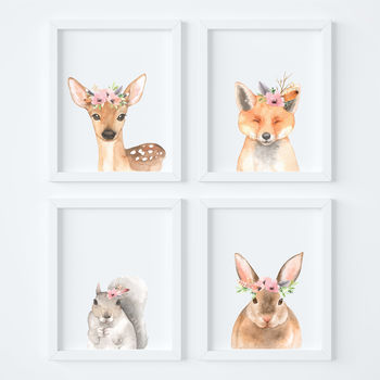 Woodland Nursery Baby Art Prints