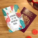 Personalised Passport Holder Tropical Flamingo
