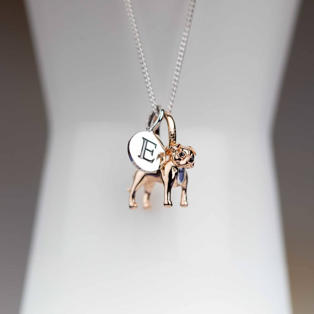 37036a4f26de7 Personalised Staffordshire Bull Terrier Necklace
