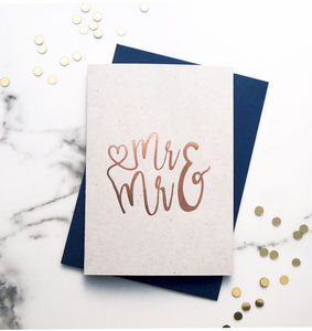 Mr And Mr Rose Gold Card