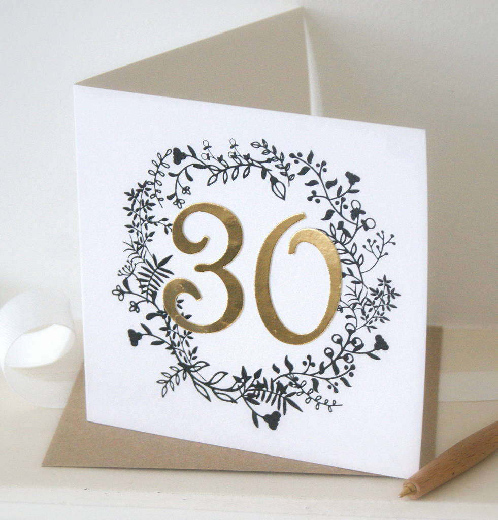 Luxe gold 30th birthday card by the hummingbird card company luxe gold 30th birthday card kristyandbryce Choice Image
