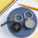 Personalised Compass Teacher Keyring
