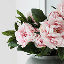 Real Touch Large Faux Pink Peony Stem