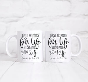 Personalised 'Husband And Wife' Couples Mug Set