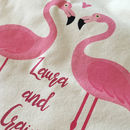 Personalised Flamingo Couple Cushion Cover