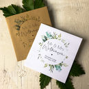 Set Of 20 Foliage Style Wedding Favour Seed Envelopes