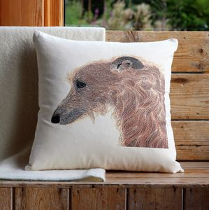 Lurcher Cushion Cover - patterned cushions