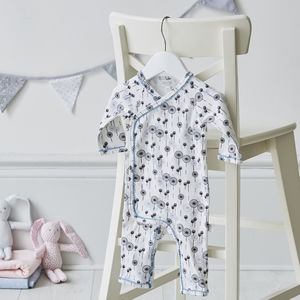 Fan Print Babygrow - gifts for babies