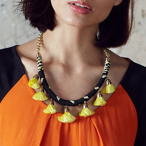 Pom Pom Statement Necklace - party wear & accessories