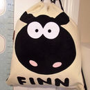 Personalised Woolly Sheep Bag