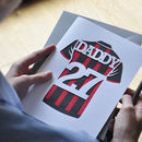 Football Shirt Papercut Card