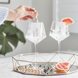 Personalised Hexagonal Gin Goblet
