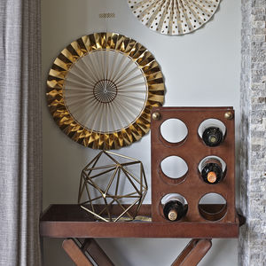 Leather Wine Rack - kitchen