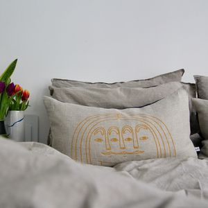 Large Scandinavian Linen Cushion - cushions