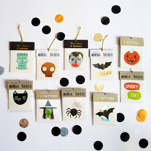 Set Of Two Halloween Tattoos - fancy dress for babies & children