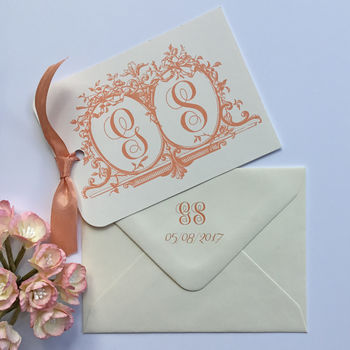 Initials Wedding Save The Date Cards