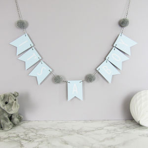 'It's A Boy' Bunting With Pom Poms
