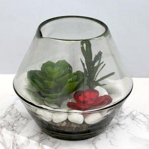 Glass Bowl Vase - flowers, plants & vases