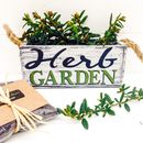 Personalised Wooden Herb Garden