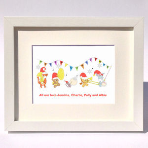 Personalised Christmas Celebration Band Print - father's day cards