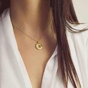 Personalised 9ct Gold Mobius Interlocking Name Necklace