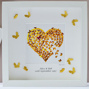 Personalised Golden Wedding Anniversary Framed Print - shop by occasion