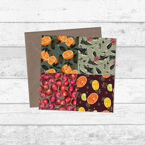 Fruit Patchwork Pattern Christmas And Greetings Cards - all purpose cards