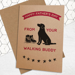 Walking Buddy Father's Day Card - funny cards