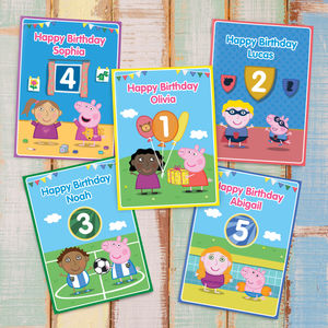 Personalised Peppa Pig: Birthday Cards - 1st birthday cards