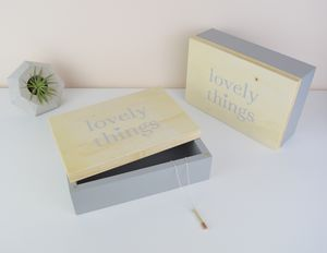 Personalised 'Lovely Things' Jewellery Or Wedding Box
